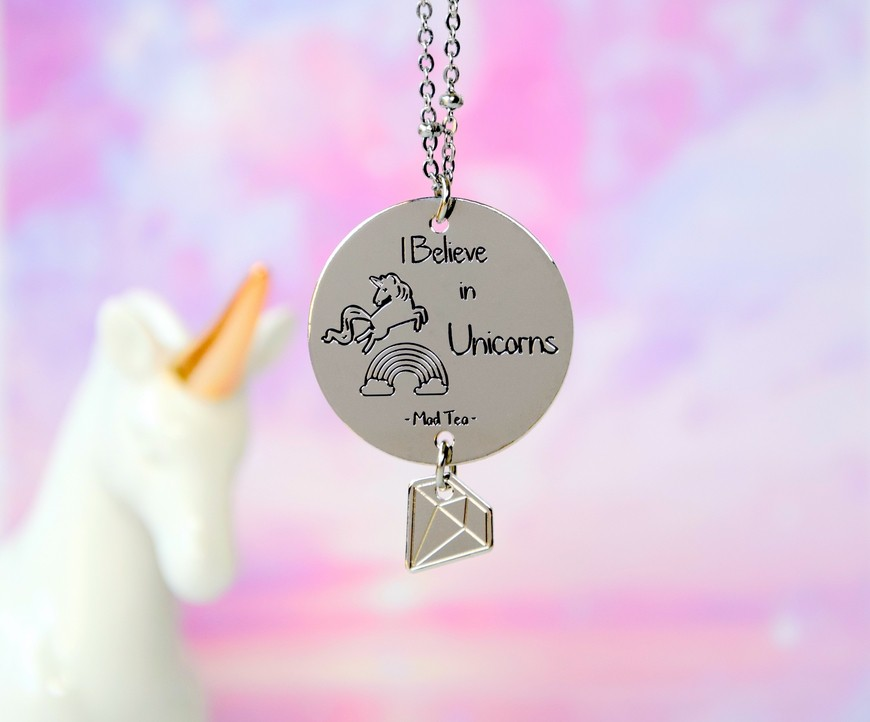 "Collana ""Believe in unicorns"""